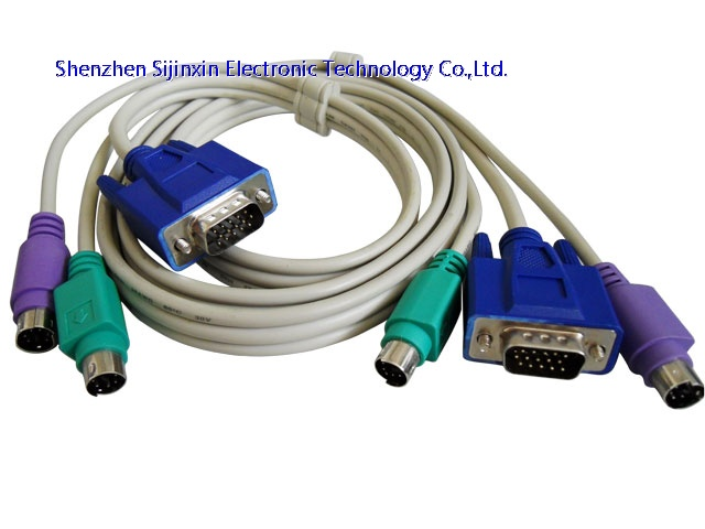 3-in-1 VGA PS/2 KVM cable