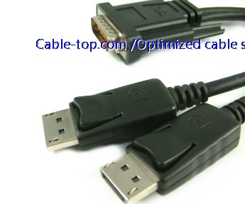 DMS59 to 2*Displayport Y splitter cable