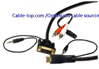 HDMI to DVI+3.5mm with audio cable