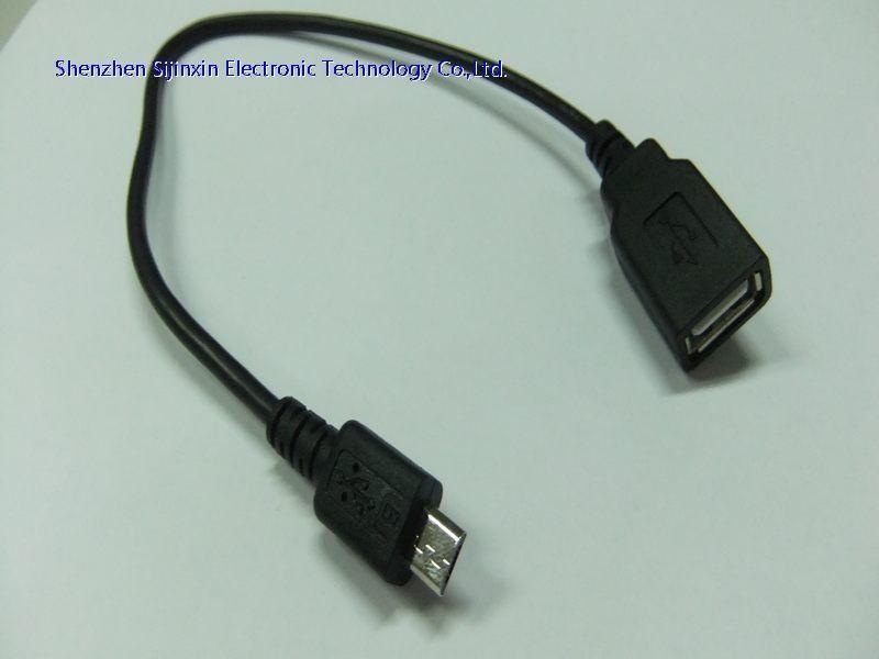 microUSB OTG线适合用于个类型的电脑,Adroid手机,平板,USB2.0数码产品的数据传输。 此款MicroUSB公转A母手机平板OTG数据线适合用于各类型的电脑,手机平板数码产品的数据传输,同时提供OTG功能让手机平板可以直接读取SD卡和无线上网卡设备。可配合其他USB2.0数据线,USB2.0延长线等产品使用,所有USB2.