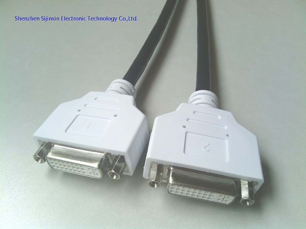 DMS59 to 2*DVI Y splitter cable-M/F