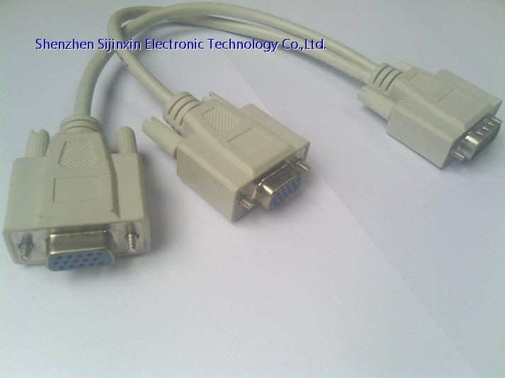 DB9 to 2*DB9 female Serial splitter cable